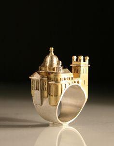 The Oxford Ring by Vicki Ambery-Smith :: Jeweller & Designer Jewelry Art, Jewelry Rings, Unique Jewelry, Silver Jewelry, Jewelry Accessories, Handmade Jewelry, Jewelry Design, High Jewelry, Do It Yourself Jewelry