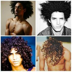 curly hair men pictures