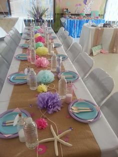 Mermaid Baby Shower | CatchMyParty.com
