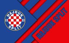 Split Kroatia, Hnk Hajduk Split, First Football, Football Wallpaper, Club, Material Design, Red And Blue, Abstract, Premier League