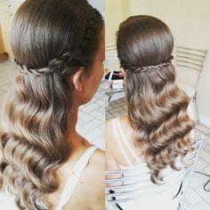 Twist braid vintage waves bridal hair Www.traceyannahair.co.uk