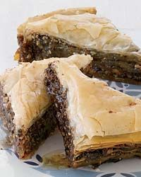 Chocolate baklava! Okay one of my favorite dessert just got better!!