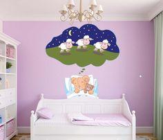 Bear Dreaming Sheep Wall Decal