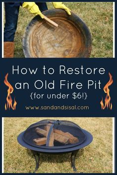 These fire pit ideas and designs will transform your backyard. Check out this list propane fire pit, gas fire pit, fire pit table and lowes fire pit of ways to update your outdoor fire pit ! Find 30 inspiring diy fire pit design ideas in this article. Diy Fire Pit, Fire Pit Backyard, Fire Pits, Fire Pit Paint, Outdoor Fire, Outdoor Living, Outdoor Decor, Outdoor Ideas, Outdoor Spaces