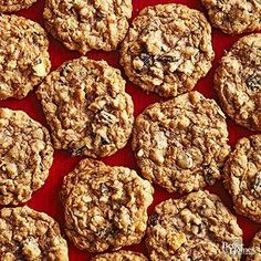 Coconut, Cherry, and Chocolate Oatmeal Cookies ~ Brimming with flaky coconut, sweet dried cherries, fiber-filled oats, and dark chocolate, these crumbly oatmeal cookies are surprisingly only 94 calories apiece!