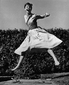 Le grand jeté d'Audrey Hepburn (1955)