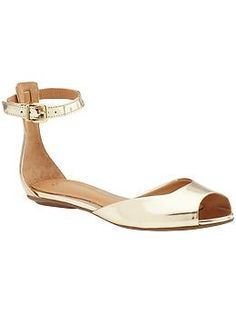 I do like an ankle strap.  These are basically the gold version of my wedding shoes, which I still wear and get compliments on.