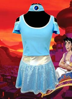 JASMINE inspired complete running outfit by iGlowRunning on Etsy, $89.00