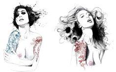 two girls by david despau