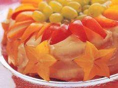 Gluteeniton täytekakkupohja Good Bakery, Salty Foods, Sweet And Salty, Fruit Salad, Cantaloupe, Watermelon, Cake Recipes, Deserts, Baking