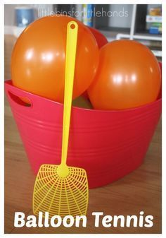Tennis Gross Motor Play Activity Balloon tennis for an indoor gross motor sensory play game! An easy DIY game that is great for summer camp!Balloon tennis for an indoor gross motor sensory play game! An easy DIY game that is great for summer camp! Teenager Party, Toddler Fun, Toddler Party Games, Childrens Party Games, Fun Party Games, Toddler Outdoor Games, Giant Outdoor Games, Balloon Party Games, Outdoor Fun For Kids