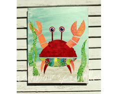 Children's Wall Art Print 8x10 red funky by loverainbowsprinkles, $15.00