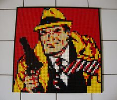 Dick Tracy Lego Mosaic by Alexander DeVille!!!