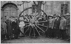 Pożegnanie kołodziei przed wyprawą do Berlina - Cieplice 1934 rok.