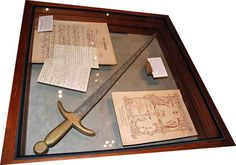 sword used by Thérèse in her role as Jeanne d'Arc