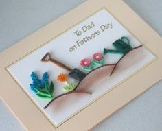 Paper Daisy: Paper quilling Fathers Day cards