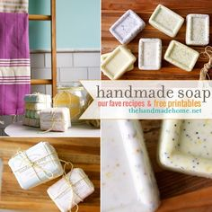 Easy Melt & Pour Handmade Soaps  http://www.thehandmadehome.net/2014/06/make-your-own-soap-our-fave-recipes-free-printables/