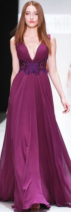 @roressclothes clothing ideas #women fashion purple maxi dress TONY WARD SPRING-SUMMER 2015