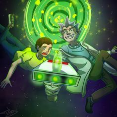 Rick-and-Morty - time vortex -  fanart by Titasasa