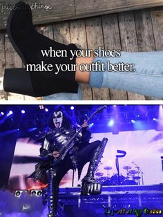 Funny parody rock n roll KISS gene simmons when your shoes make your outfit better Just Girly Things, Girly Things and Justgirlythings Parody