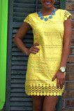 The Perfect Dot Dress: Lemon
