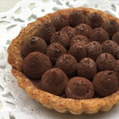 Salted caramel pie with dark choc cremeux and duat of cocoa powder