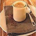 Crèmes au café (à alléger en utilisant de la crème 5%MG et en remplaçant le sucre par du sucralose)