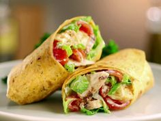 Grilled Chicken Caesar Wrap recipe from Jeff Mauro via Food Network