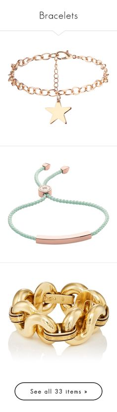 """""""Bracelets"""" by pharaoh-s ❤ liked on Polyvore featuring jewelry, bracelets, star charm bracelet, golden bangles, golden jewellery, charm bracelet, star jewelry, accessories, jewels and letter friendship bracelet"""