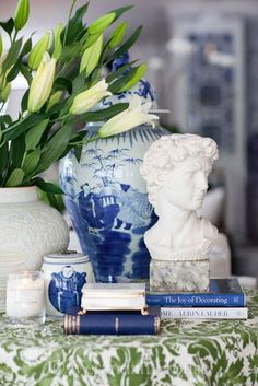 www.verandahhouse.blogspot.com~ blue and white, and lots of it