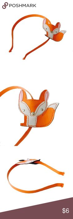 Cute Fox Patent Leather headband Super cute orange patent leather headband with fox accent piece on the side. Maybe worn once, I don't remember, but it is in excellent condition with no stains, rips, or any other flaws  I can see. Please note this was purchased in a big kids section, but does fit my adult head for reference! Lol.  Circo Accessories Hair Accessories