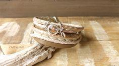 Wickelarmbänder - Armband ★ nude ★ Wickelarmband Nappaleder - ein Designerstück von charm_one bei DaWanda