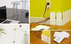Desde Decofilia os mostramos originales y diferentes maneras de mimetizar, disimular y esconder cables sueltos que pululan por casa. ¿Con cuál te quedas?