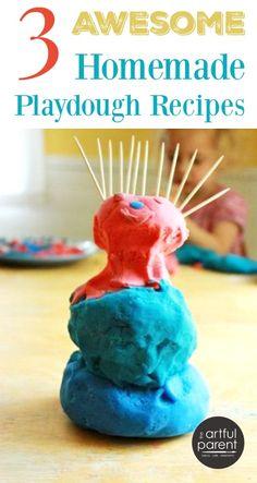 3 Awesome Homemade Playdough Recipes
