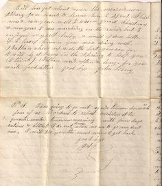 Civil War letter of John King to his brother. page 4