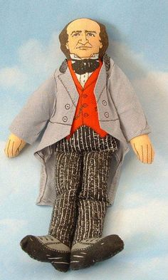 "~~$6.95-- Vintage Collectible 1979 Hallmark Old New Stock 7"" Cloth PT Barnum Circus Doll r"