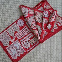Antique Hand Made Sampler Book 109 Crochet Needlework Samples