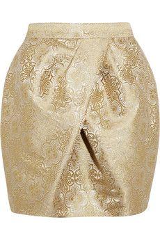 Vera Wang  Brocade mini tulip skirt