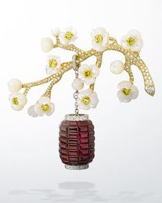 Van Cleef & Arpels Hanami Clip, Les Jardins collection 2008
