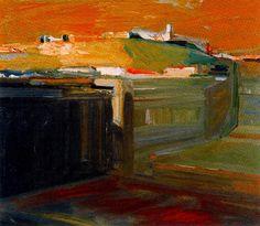 Orange sky, 1958 / Elmer Bischoff