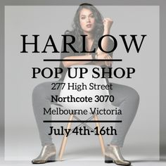 Melbourne Pop-Up | 2 Weeks Only | July 4th-16th – Harlow