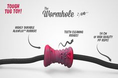 Alienflex Wormhole // $19.99 // It's a perfect chew toy, tug and fetch toy and is bound to keep your pup going for hours.  PS: This toy is bubblegum scented!