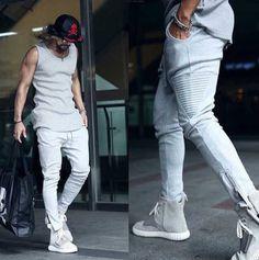 da70ea1dfda  1503 Men joggers Slim With zipper Beam pants Punk Harajuku Hip hop pants  Fashion Casual