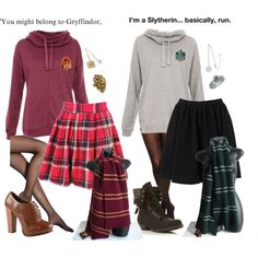 Slytherin and Gryffindor
