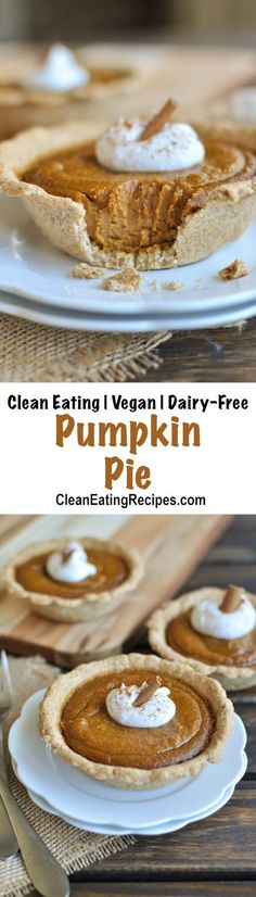 This Clean Eating pumpkin pie recipe has a deep, rich flavor from the maple syrup and is allergen friendly and Vegan with no eggs or butter.