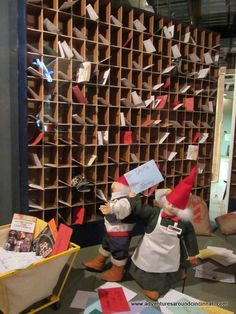 Shillito's Elves Mailroom. Cincinnati...Christmas windows. I loved going downtown to see the window at Shillito's!