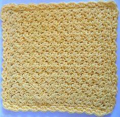 #259 Sedge Stitch Dishcloth via Maggie Weldon Found on bestfreerochet.com Took me aprox 1 hr to complete. FD259_800
