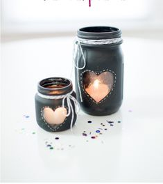 Heart Love Weddings conceived these chalkboard-paint mason jar candles to be sweet centerpieces, but we think they'd look just as cute on your mantel. Get the tutorial at Heart Love Always »   - CountryLiving.com