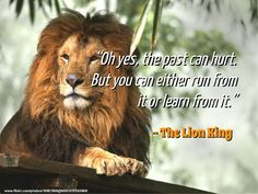 Yes, the past can hurt! But you can either run from it or #learn from it.