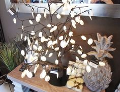 A light tree from Louise's Cottage & Home, located in downtown Goderich Ontario